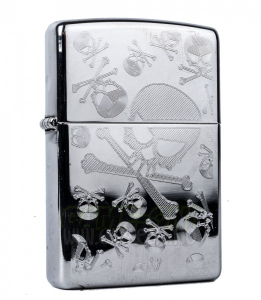 Bilde av Zippo - Skulls, Skulls, Skulls - High Polish Chrome