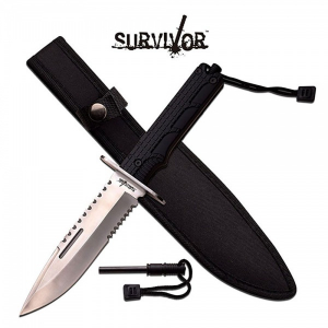 Bilde av Survivor Sheath Knife med Firestarter - Silver Blade