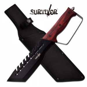 Bilde av Survivore Saw-Back Machete - Pakkawood