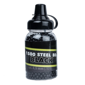 Bilde av GO! Black BB Steel Shots - 1500stk