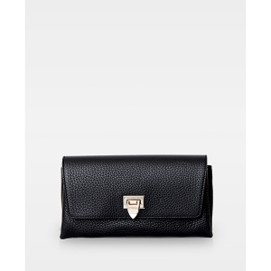 Image of Decadent Clutch with Buckle Black